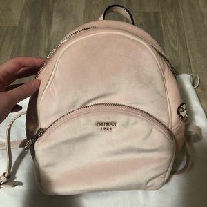 Guess mini velvet backpack